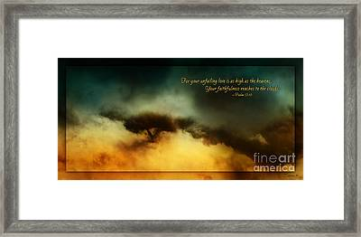 A Walk In The Clouds -verse Framed Print by Shevon Johnson