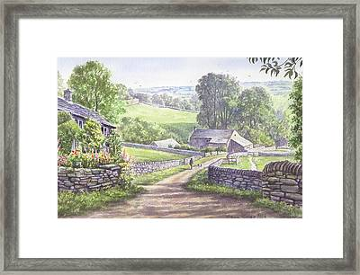 A Walk In The Dales Framed Print