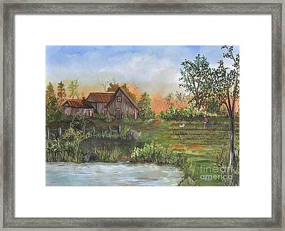 A Walk In The Garden Framed Print by Reb Frost