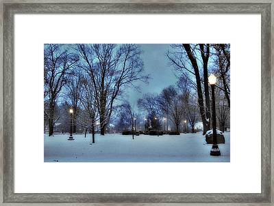 A Walk In The Light Framed Print by Luis A Vera