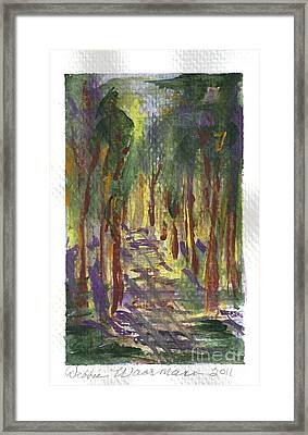 A Walk In The Park Framed Print by Debbie Wassmann