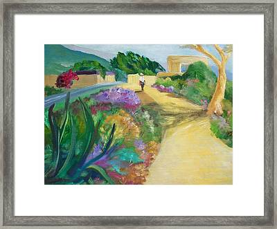 A Walk In The Park Framed Print by Jan Moore