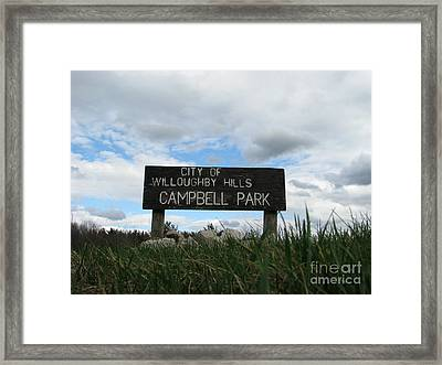 Framed Print featuring the photograph A Walk In The Park  by Michael Krek