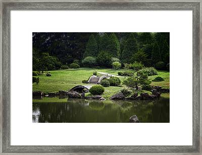 A Walk In The Park Framed Print by Tom Mc Nemar