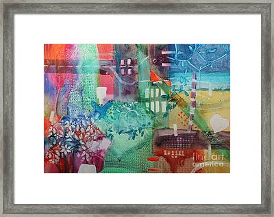 A Spring Walk In The Park   Framed Print by Elizabeth Carr