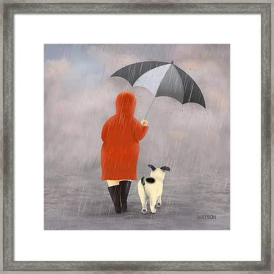 A Walk In The Rain 2 Framed Print by Marlene Watson