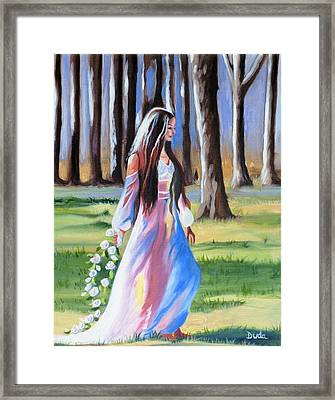 A Walk In The Woods Framed Print by Susan Duda