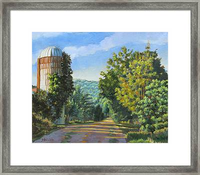 A Walk In Vermont Framed Print by Dominique Amendola