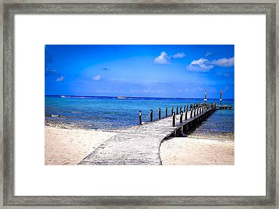 Framed Print featuring the photograph A Walk Into Blue by Phil Abrams