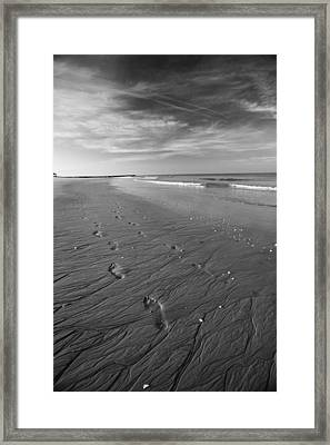 Framed Print featuring the photograph A Walk On The Beach by Brad Brizek