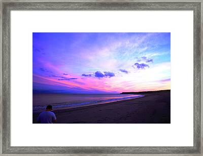 A Walk On The Beach Framed Print by Jason Lees