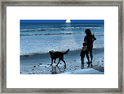 Framed Print featuring the photograph A Walk On The Beach by Mike Flynn