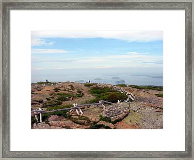 Framed Print featuring the photograph A Walk On The Mountain by Judith Morris
