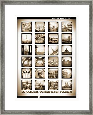A Walk Through Paris Framed Print