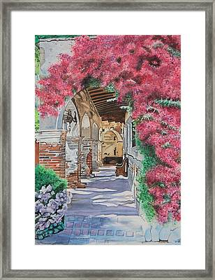 A Walk Through The Mission Framed Print by Christine Rivers