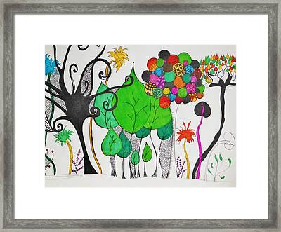 A Walk Through The Park Framed Print by Lori Thompson