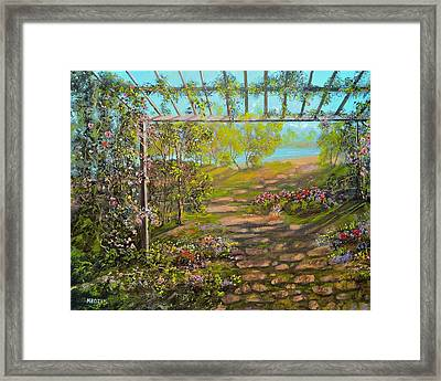 A Walk To The Beach  Framed Print by Michael Mrozik