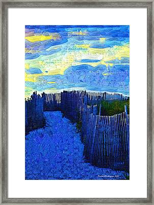 A Walk To The Beach Framed Print by Richard Worthington