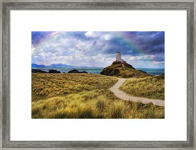 A Walk To The Lighthouse Framed Print by Ian Mitchell