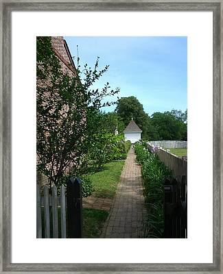 A Walk To The Shed Framed Print by Shesh Tantry