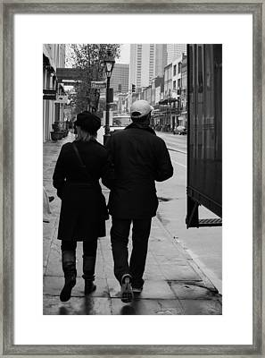 A Walk Together Framed Print