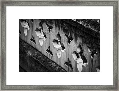 A Wall Between Gardens Framed Print by Christi Kraft