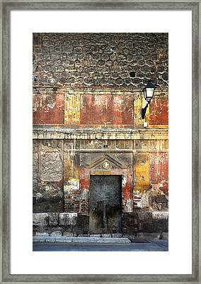 A Wall In Decay Framed Print