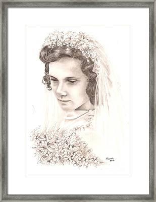 A War Bride Framed Print by Manon  Massari