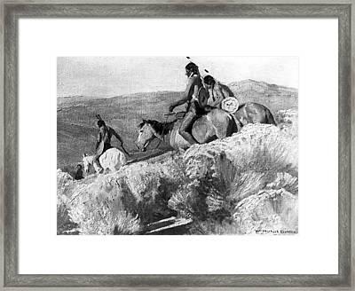 A War Party Framed Print by W Herbert Dunton