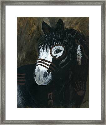 A War Pony Framed Print