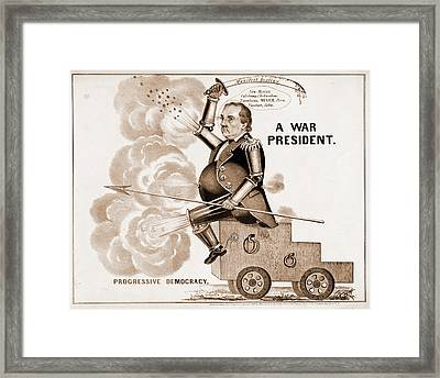 A War President. Progressive Democracy N. Currier Firm Framed Print by Litz Collection