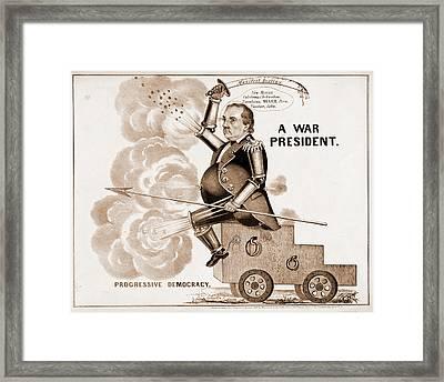 A War President. Progressive Democracy N. Currier Firm Framed Print