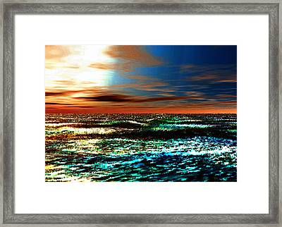 A Warm And Gentle Sunrise Framed Print by Rebecca Phillips