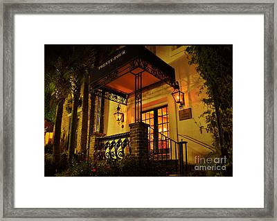 Framed Print featuring the photograph A Warm Summer Night In Charleston by Kathy Baccari
