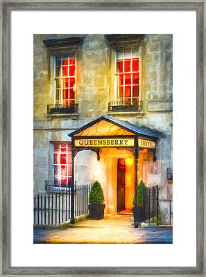 A Warm Welcome In Bath England Framed Print by Mark E Tisdale