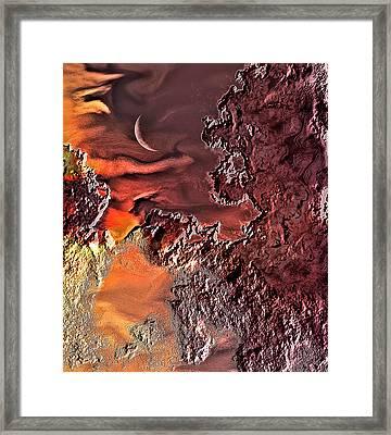 Warmer Crescent Phase Framed Print