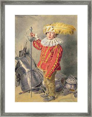 A Warrior Bold Framed Print by William Henry Hunt