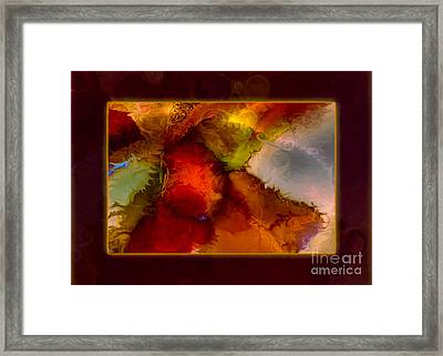 A Warrior Spirit Abstract Healing Art Framed Print by Omaste Witkowski