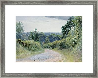 A Warwickshire Lane Framed Print