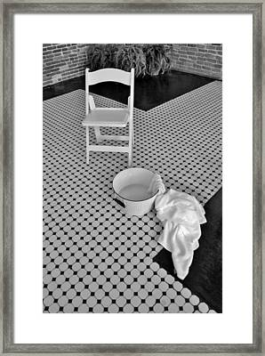 A Washing Of The Feet Framed Print by Bob Sample