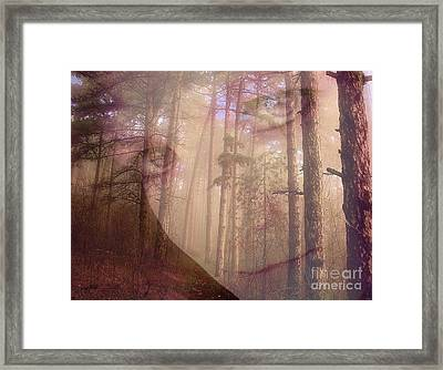 A Watchful Forest Framed Print