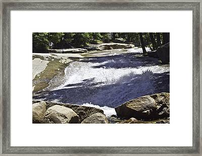 Framed Print featuring the photograph A Water Slide by Brian Williamson