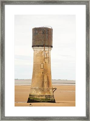 A Water Tower At Spurn Point Framed Print by Ashley Cooper