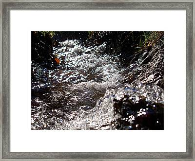A Watery Dance Of Reflected Light Framed Print