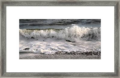 A Wave Story Framed Print by Betsy Knapp