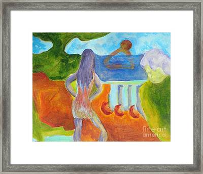 A Way To Sea- Caprian Beauty Series 1 Framed Print by Elizabeth Fontaine-Barr