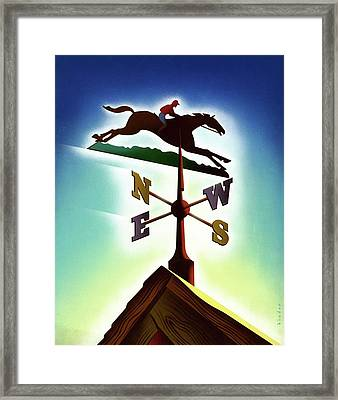 A Weather Vane Framed Print by Joseph Binder