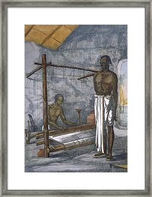 A Weaver, From The Hindus, Or Framed Print
