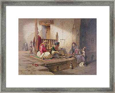 A Weaver In Esna, One Of 24 Framed Print