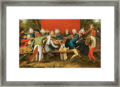 A Wedding Feast Panel Framed Print